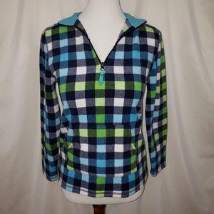 ⭐3/$20⭐ARIZONA Fleece Pullover ☆L14-16 ☆Blue/green